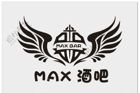MAX酒吧标识logo