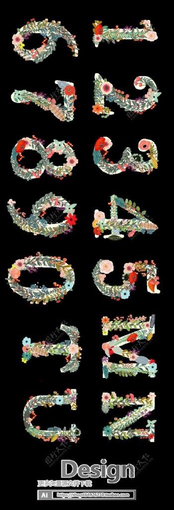 植物花框海报设计花草