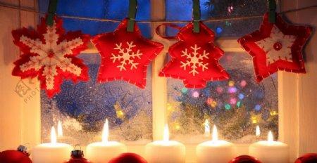 圣诞烛光平安夜意境背景