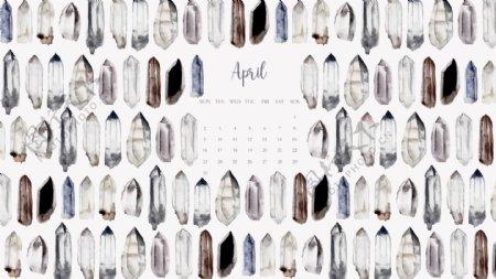 水彩钻石日历