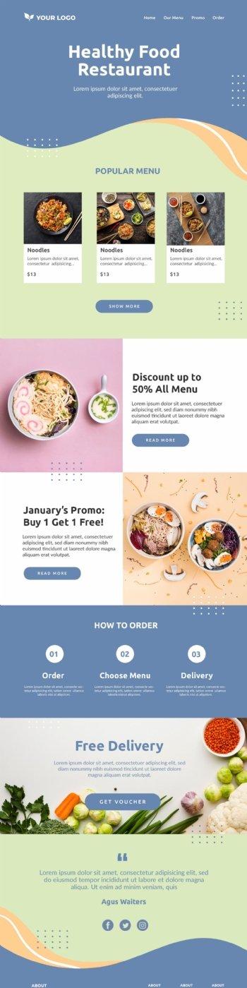 健康餐饮网页模板