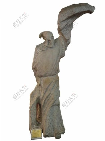李白雕塑雕像塑像诗人