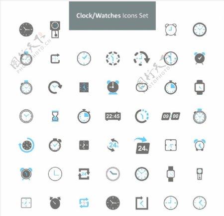 商务简约时间效图标ICON设计