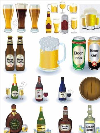 啤酒玻璃瓶杯i子