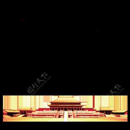 天安门插画素材背景设计
