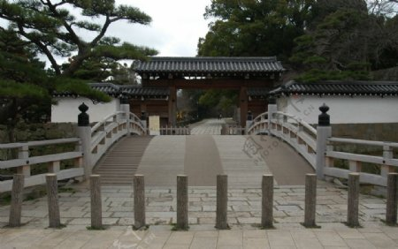 日本古建大门