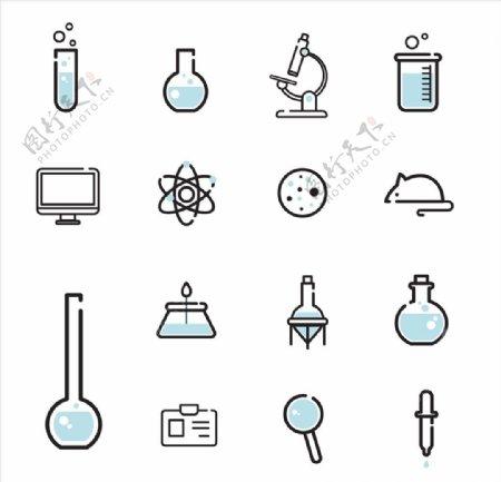 简约科学实验图标icon设计