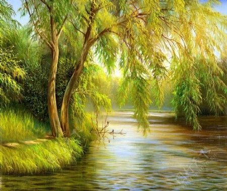 精美乡村风景油画欣赏