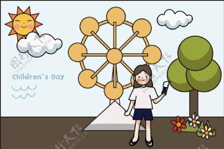 原创插画儿童节