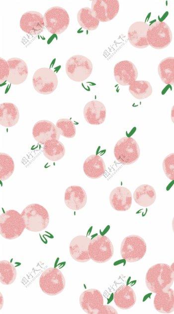 樱桃车厘子水果印花