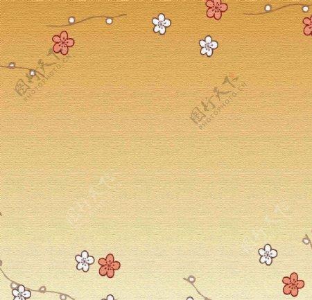 卡通花朵背景