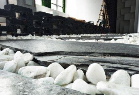 鹅卵石青石砖地砖