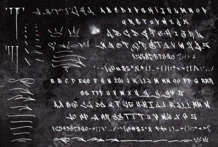 狂野刷子泼墨英文字体
