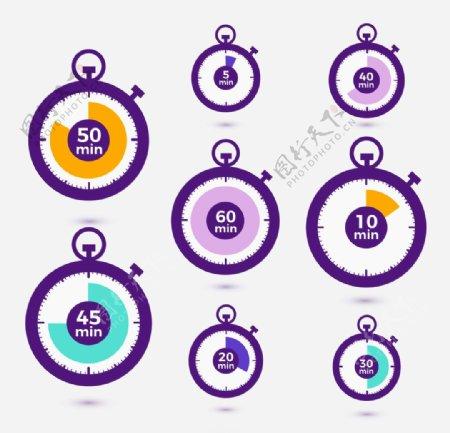 秒表计时icon图标