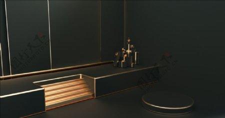 展台模型立体白板