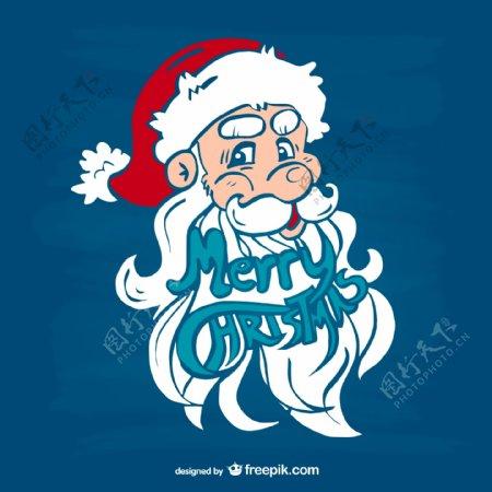 圣诞贺卡圣诞老人脸