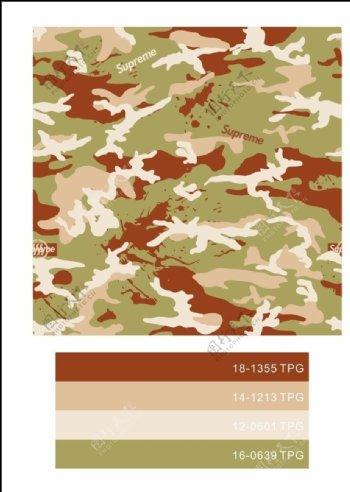 军事斑驳迷彩四方连续循环图