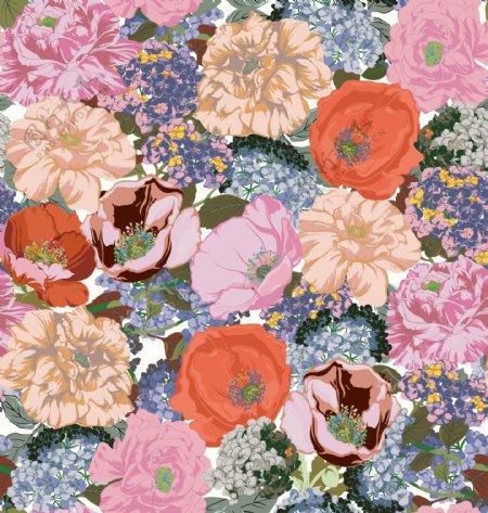 花卉大花手绘花