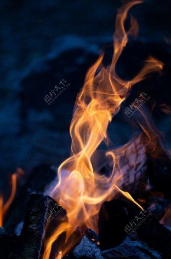 红蓝火焰背景素材