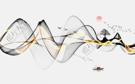 新中式抽象山水