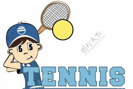 卡通漫画网球小子logo