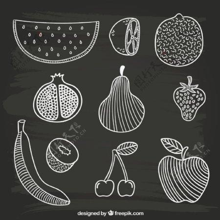 手工绘制水果