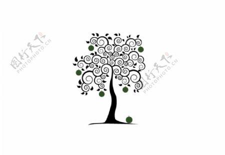 苹果树苹果艺术树