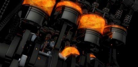 汽车发动机燃烧