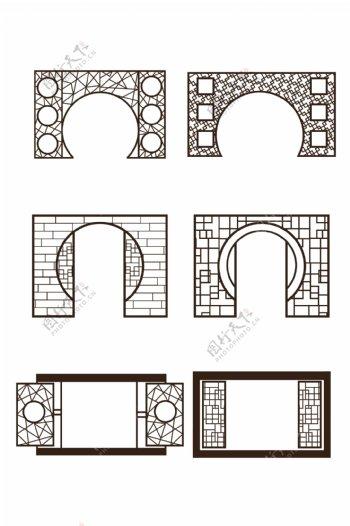 中式古典屏风窗户