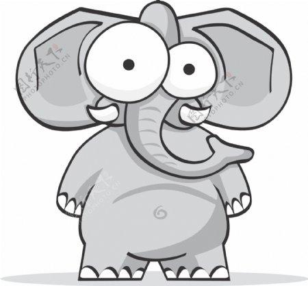 大象搞笑搞怪动物卡通大眼睛1C