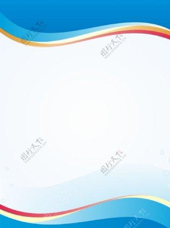 蓝色医疗展板背景