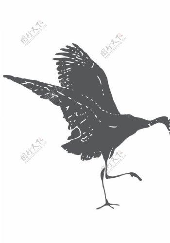动物剪影图形标志图标素材