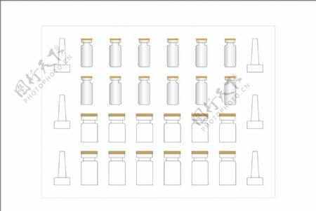 冻干粉套盒设计平面图