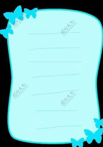 浅蓝蝴蝶几何边框图片
