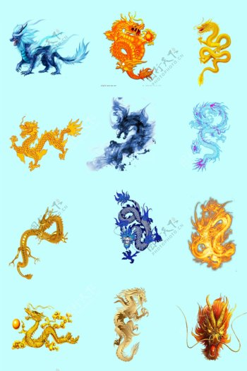 龙纹素材图片