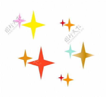 闪耀七彩星星图片