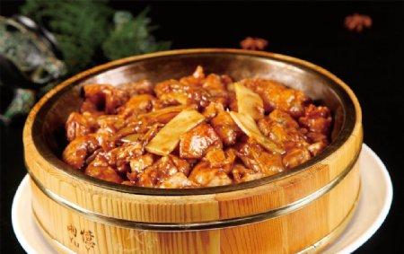 竹笋蒸石鸡图片