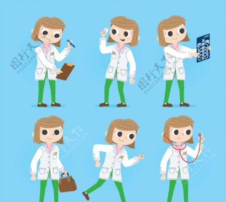 创意短发女医生图片