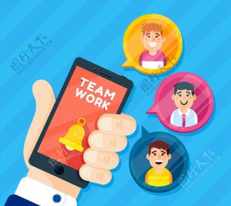 商务合作团队人物头像图片