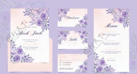 水彩花卉婚礼图片
