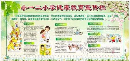 健康教育流行感冒肺炎展板图片