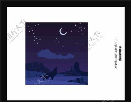 夜晚背景CDR矢量图图片