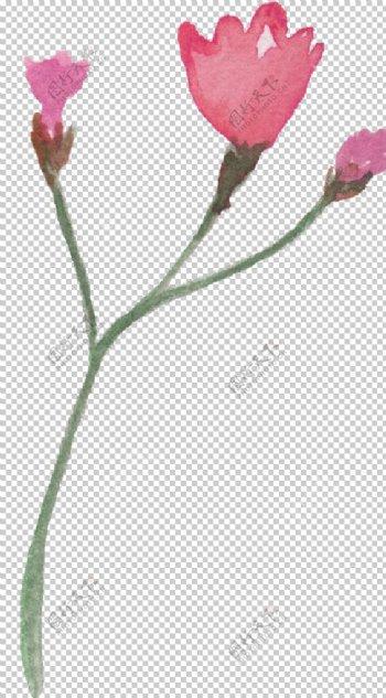粉红手绘花朵设计花型图片