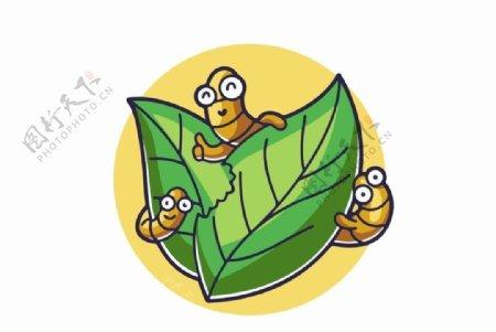 卡通毛毛虫图片