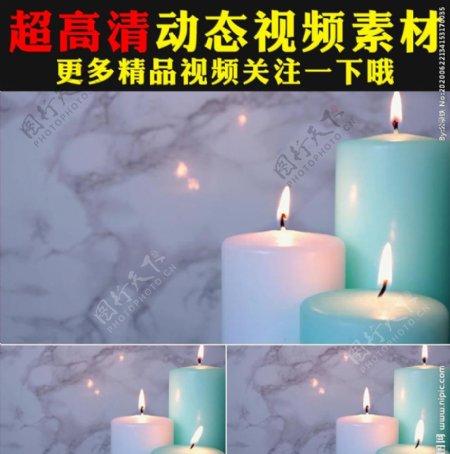 蜡烛燃烧火光动态视频素材