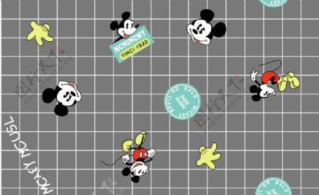方格米老鼠图片