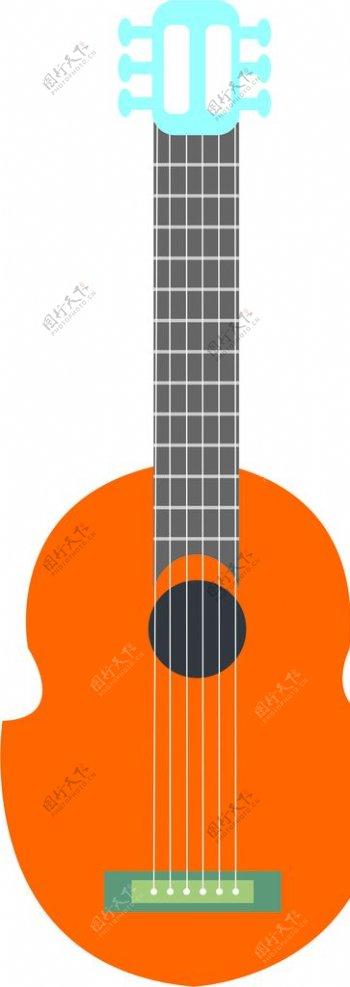 小提琴图标图案矢量图片