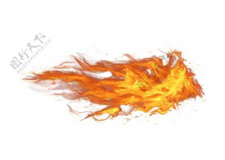 红色火焰火苗元素火焰火焰燃烧图片