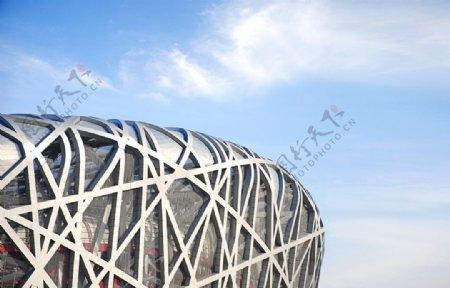 鸟巢体育馆建筑背景海报素材图片