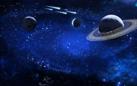 星空深色星空星光点装饰图片